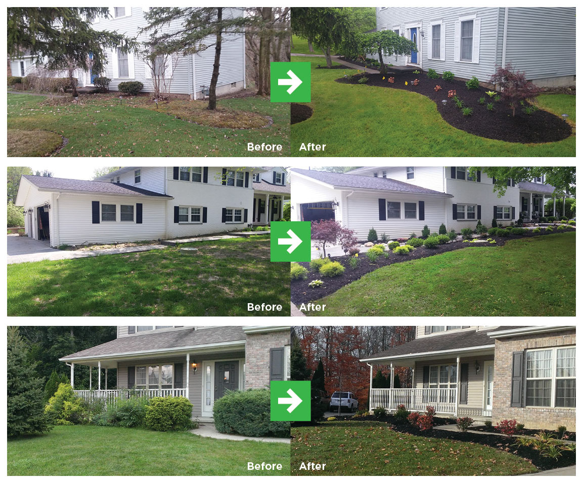 Transform the look of your entire home in as little as one day with our Landscape Renovation