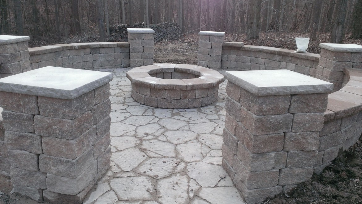 Residential Home Stone Rock & Brick Patio Installation, Berea, OH 44017
