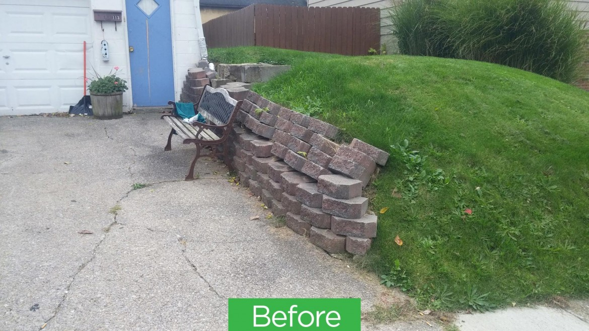 Residential Brick & Stone Retaining Wall Hardscaping, Brunswick, OH 44212