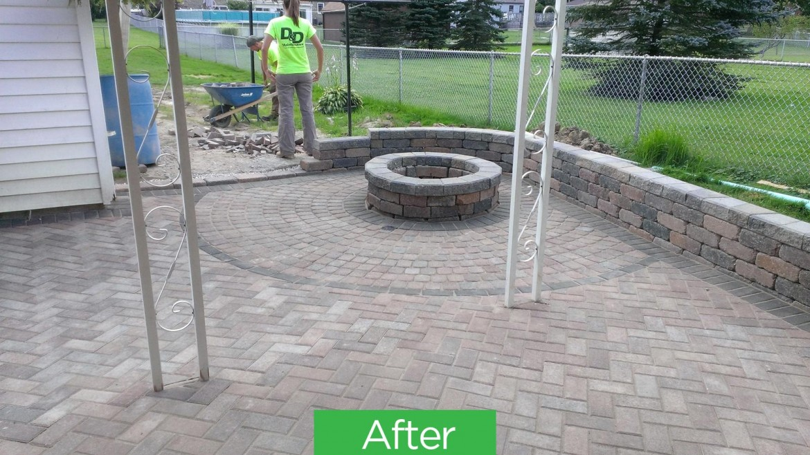 Residential Brick & Stone Patio Hardscaping, Berea, OH 44017